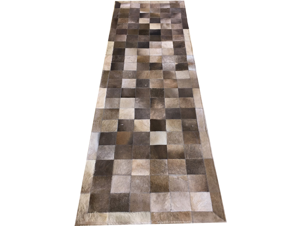 Tapete de couro passadeira cinza natural 0,70x2,30 c/b pç 10