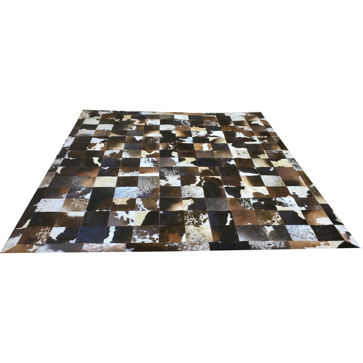 Tapete de couro marrom malhado escuro 2,60x3,00 c/b pç 20x20