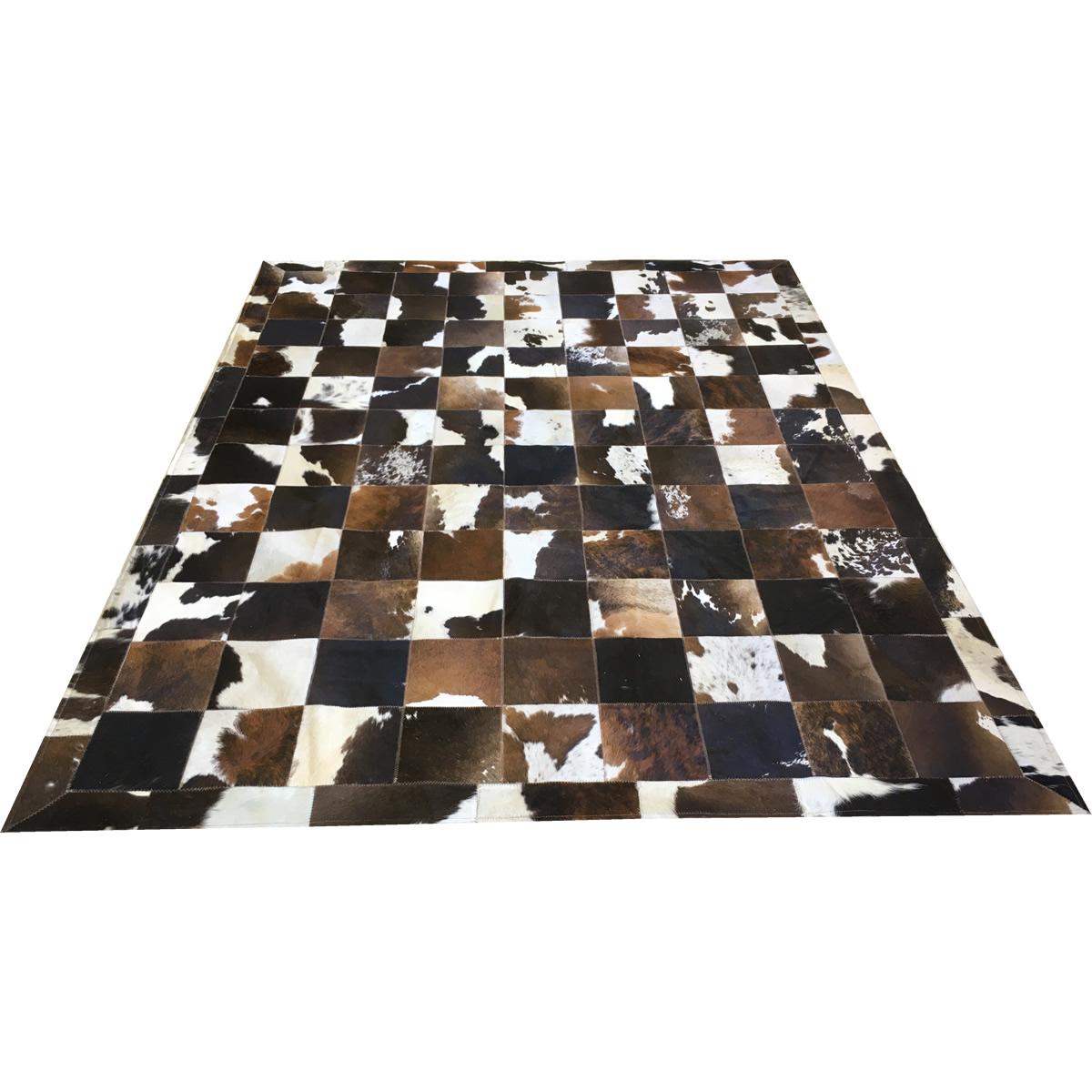 Tapete de couro marrom malhado escuro 2,00x2,60 c/b placa 20