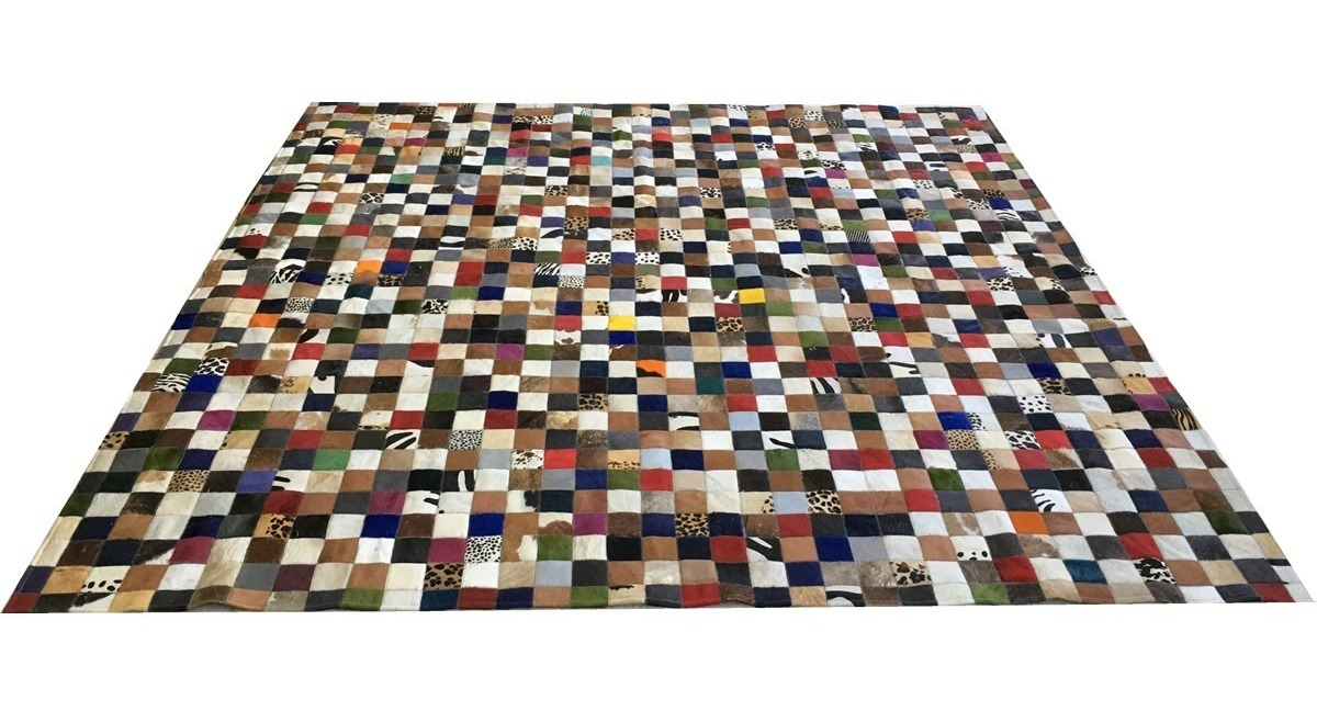 Tapete De Couro Colorido 2,50x2,50 Sem Bordas