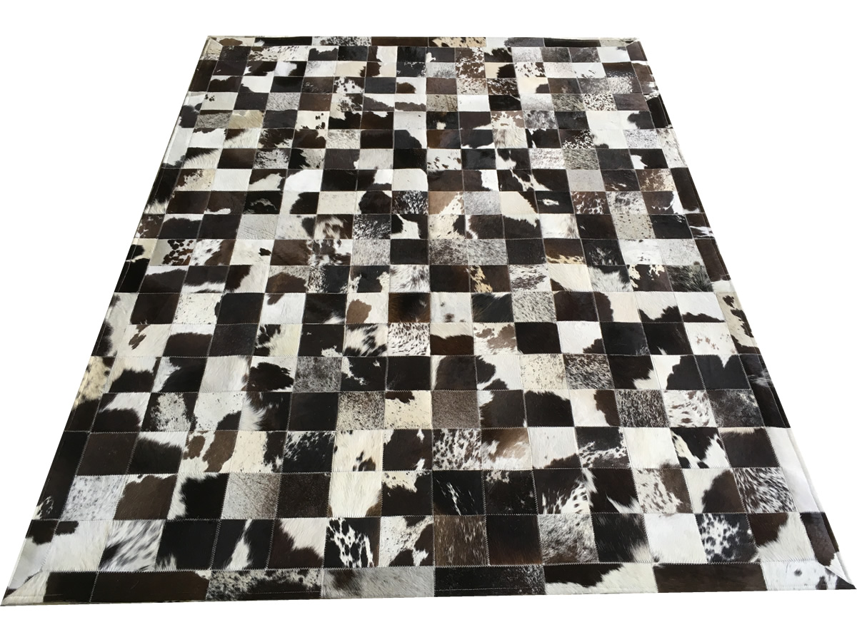 Tapete de couro marrom café malhado 1,50x2,00 c/b peça 10x10