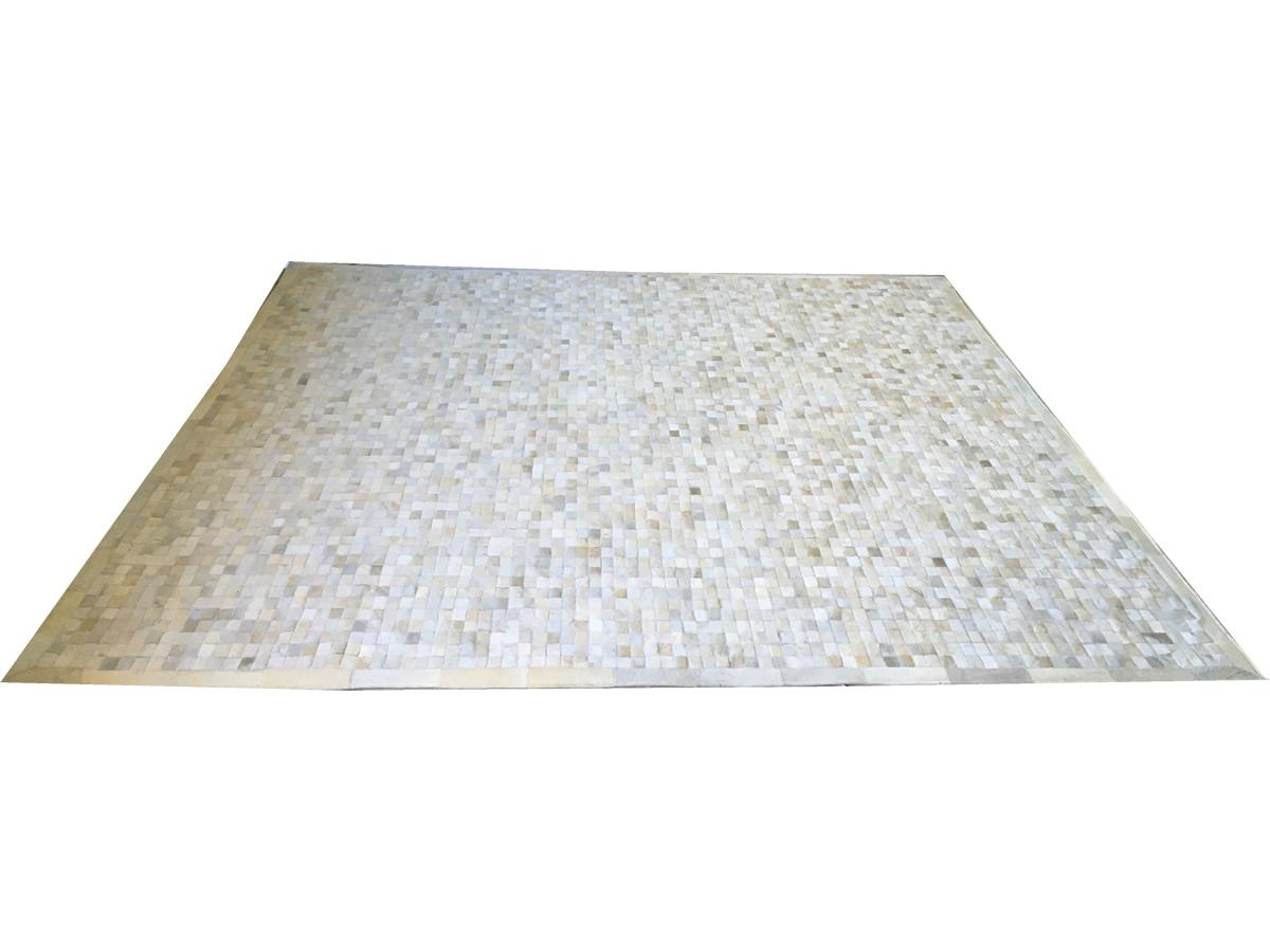 Promoção! Tapete de couro branco 3,00x3,00 com bordas
