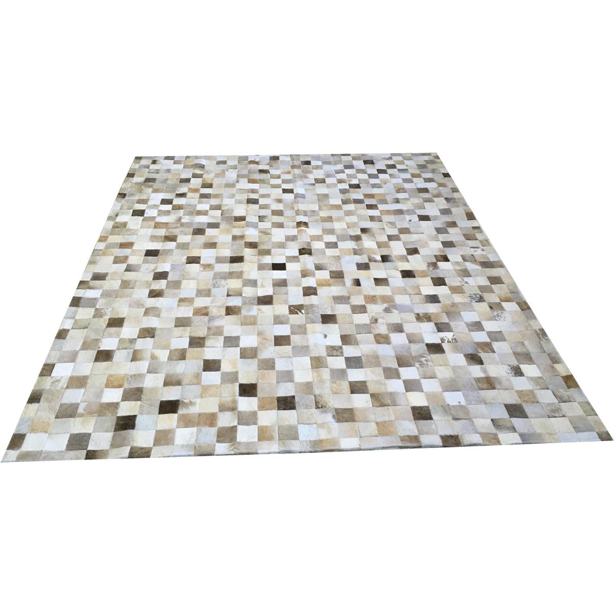 Tapete de couro cinza natural 2,00x2,50 sem bordas