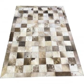 Tapete de couro cinza natural malhado 1,00x1,50 c/b peça 10
