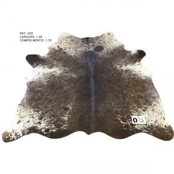 Tapete de couro de boi inteiro marrom salino