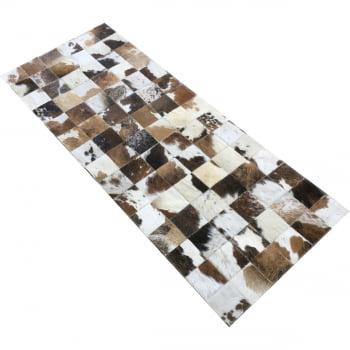 Tapete de couro marrom malhado escuro 0,60x1,50 s/b pç 10