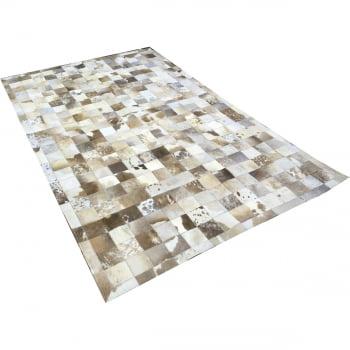 Tapete de couro cinza natural malhado 1,50x2,50 c/b pç 10x10