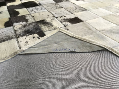 Tapete De Couro Preto Branco Degrade 1,50x2,50 Sem Bordas