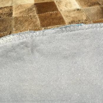 Tapete de couro redondo marrom light 0,80 diâmetro sem borda
