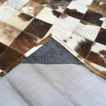 Tapete de couro marrom malhado escuro 1,20x1,80 c/b pç 10x10