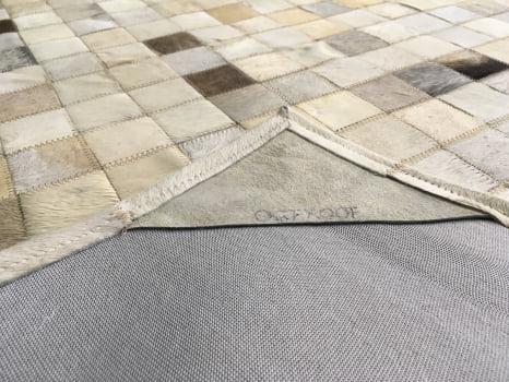 Promoção! Tapete de couro cinza griss 1,00x1,50 com bordas