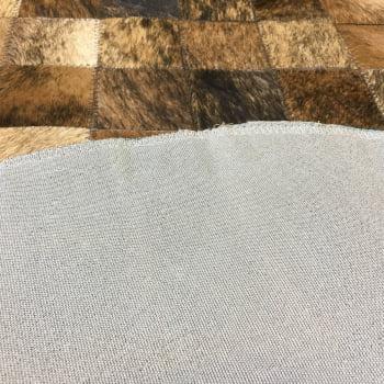 Tapete de couro redondo marrom exótico 1,00 diâmetro s/b