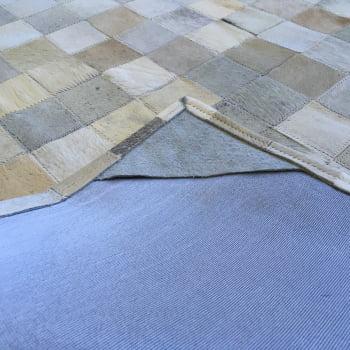 Tapete de couro cinza griss bege 1,50x2,00 sem bordas