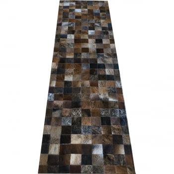 Tapete de couro passadeira marrom exotico 0,60x2,00 s/borda