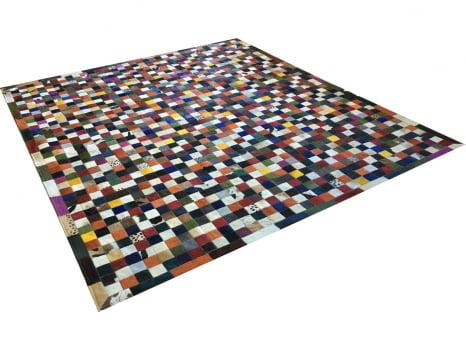 Tapete De Couro Colorido 2,50x3,00 Com Bordas