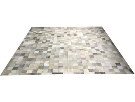 Tapete de couro cinza griss 2,50x2,50 com borda peça 10x10cm