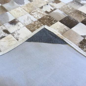 Tapete de couro cinza natural malhado 1,20x1,80 c/b pç 10
