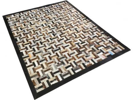 Tapete de couro bege estampado estilo parque 1,50x2,00 c/b