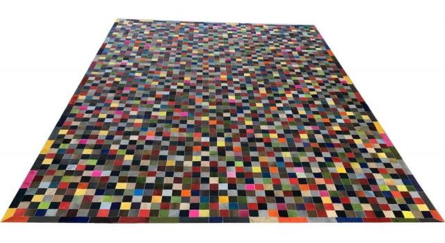 Tapete De Couro Colorido 3,00x4,00 Com Bordas