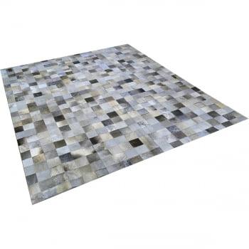 Tapete de couro cinza chumbo 2,00x2,50 sem borda peça 10x10