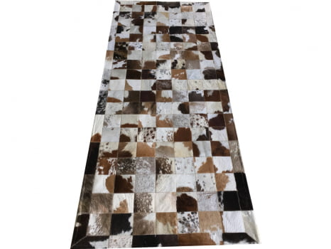 Tapete de couro marrom malhado escuro 0,80x2,00 c/b pç 10