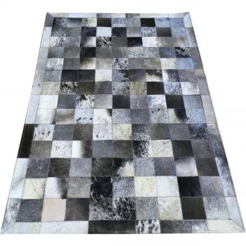 Tapete de couro cinza chumbo 1,00x1,50 com borda pç 10