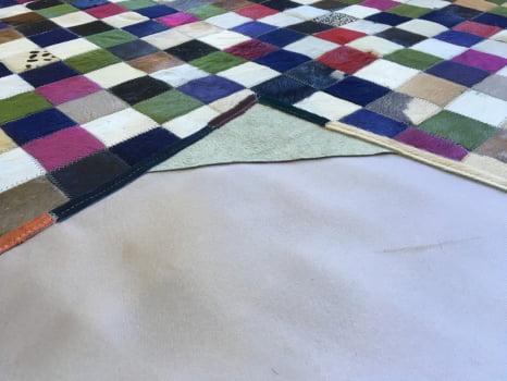 Tapete De Couro Colorido 2,00x2,00 Com Bordas