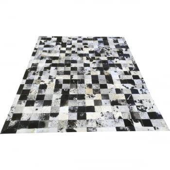 Tapete de couro preto branco salino 1,70x2,20 c/b peça 10