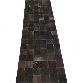 Tapete de couro passadeira marrom café 0,60x2,00 s/b pç 10
