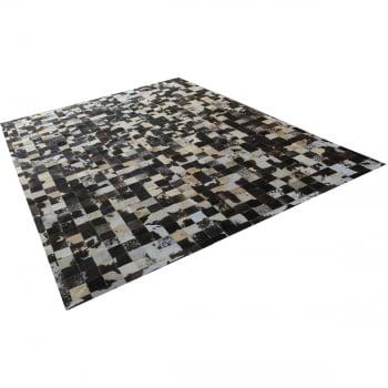Tapete de couro marrom café malhado 2,50x3,50 c/b peça 10x10
