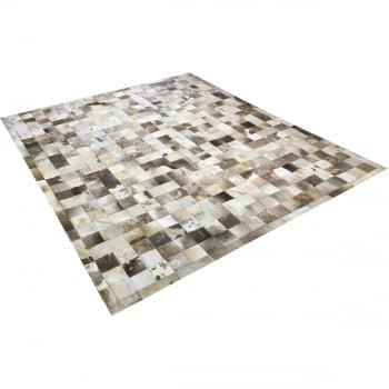 Tapete de couro cinza natural malhado 2,00x2,50 c/b peça 10