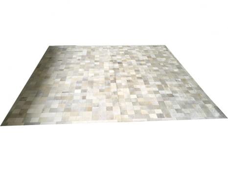Tapete de couro cinza griss 3,00x3,00 com borda peça 10x10cm