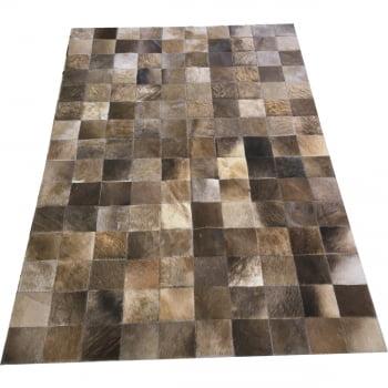 Tapete de couro cinza natural escuro 1,00x1,50 s/b peça 10cm