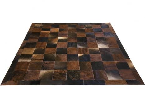 Tapete de couro marrom exótico 2,00x2,00 com borda placa 20