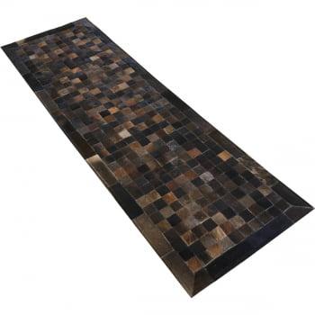 Tapete de couro passadeira marrom exotico 0,60x2,00 c/borda