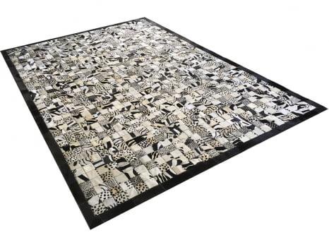 Tapete de couro bege claro estampado 2,00x3,00 com bordas