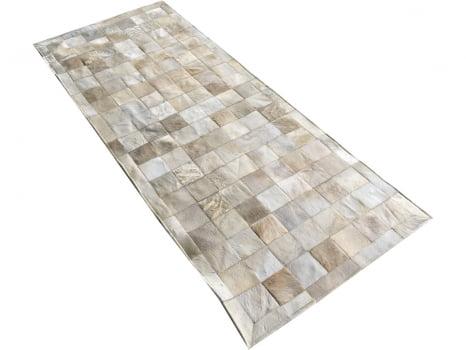 Tapete de couro passadeira bege claro 0,80x2,00 c/b peça 10